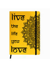 Hamee Premium Leather Hardbound Cover Classic Notebook (Aas-Planner230), yellow