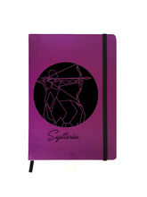 Hamee Premium Leather Hardbound Cover Classic Notebook (Aas-Planner542), purple