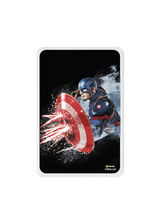 Hamee 5000 mAh PowerBank with LED indicators and Reversible Micro-USB cable(Captain America Shield 6), multicolor
