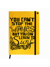Hamee Premium Leather Hardbound Cover Classic Notebook (Aas-Planner372), yellow