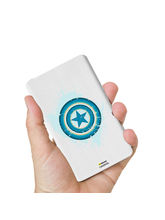 Hamee Marvel Licensed Avengers 10000 mAh PowerBank (Captain America / Shield Blue), multicolor