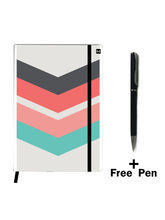 Hamee Premium Leather Notebook Hardbound Classic Cover Notebook (19apen8207)