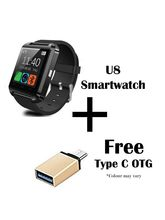Hamee Go Tech Smart Watch U8 Bluetooth Lightweight Silicone Wristband (831-otgusb1cc)