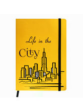 Hamee Premium Leather Hardbound Cover Classic Notebook (Aas-Planner295), yellow