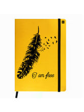 Hamee Leather Hardbound Premium Cover Classic Notebook (Aas-Planner600), yellow