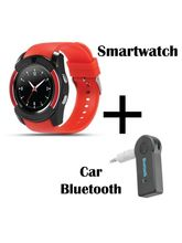 Hamee Sportitech Round IPS Camera Smart Watch Bluetooth Smartwatch