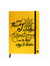 Hamee Premium Leather Hardbound Cover Classic Notebook (Aas-Planner420), yellow