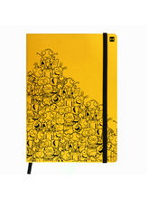 Hamee Leather Hardbound Premium Cover Classic Notebook (Aas-Planner621), yellow
