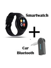Hamee Chromtech Round Camera Smart Watch Bluetooth Smartwatch