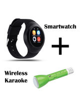 Hamee Chromtech With Free Karaoke Mic With Bluetooth Speaker And Sound Receiver (821-smart019-30)