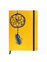 Hamee Premium Leather Hardbound Cover Classic Notebook (Aas-Planner223), yellow