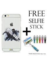 Hamee Marvel Licensed Civil War Hard Back Clear Case Cover for iPhone 6 / 6s with free Selfie Stick– Design 8
