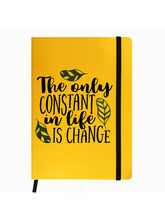 Hamee Premium Leather Hardbound Cover Classic Notebook (Aas-Planner271), yellow