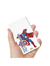 Hamee Marvel Licensed Avengers 8000 mAhPowerBank (Captain America / First) (831-Power712), multicolor