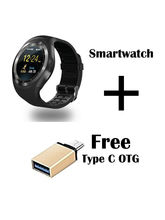 Hamee Ambitech Smartwatch With Free Type C OTG Cable (821-smart019-46)