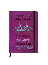 Hamee Premium Leather Hardbound Cover Classic Notebook (Aas-Planner492), purple