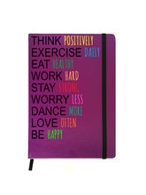 Hamee Premium Leather Hardbound Cover Classic Notebook (Aas-Planner485), purple