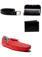 AT Classic Red Combo Loafers-Red, 9