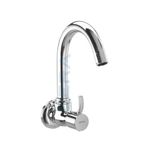 CERA CRAYON SERIES - F2008251 SINK COCK (WALL MOUNTED) WITH SWIVEL SPOUT AND WALL FLANGE