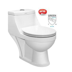 CERA S1014101 - CODI One Piece EWC P/S Concealed Duroplast Soft Close Seat Cover & Twin Flush Fittings, WHITE,  white