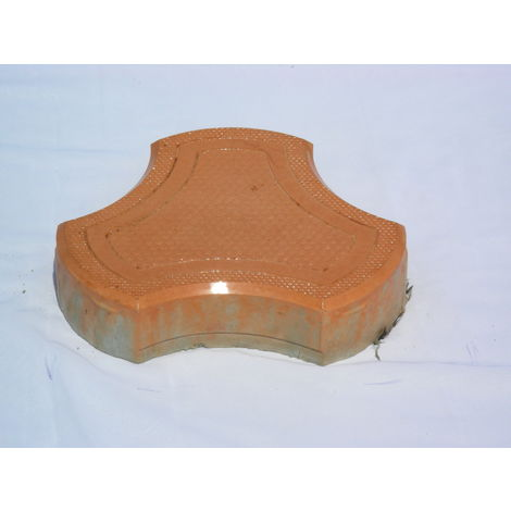 RUBBER MOULD GLOSSY PAVING BLOCK (60MM THICKNESS) - COSMIC DESIGN, brown