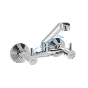 CERA GARNET SERIES - F2002511 SINK MIXER (WALL MOUNTED) WITH SWIVEL SPOUT, CONNECTING LEGS AND WALL FLANGES