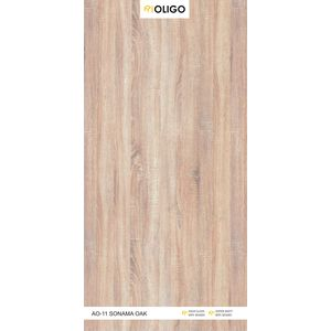 ALSTONE OLIGO WOOD POLYMER COMPOSITE BOARD (8 x 4 FEET) - SONAMA OAK, one side, matt, 18 mm