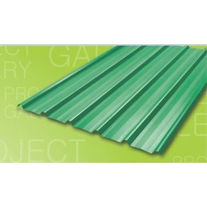 TATA DURASHINE COLOUR COATED STEEL SHEETS: -BRIGHT GREEN - THICKNESS 0.47MM x WIDTH 1072MM (3.5FEET), 14feet 4270mm