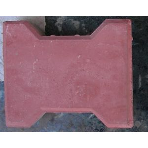 FALCON DESIGN HEAVY DUTY PAVER BLOCK (80MM THICKNESS), red
