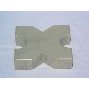 RUBBER MOULD GLOSSY PAVING BLOCK (60MM THICKNESS) - GRASS PAVER DESIGN, grey