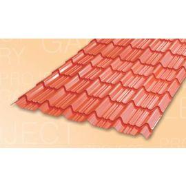 TATA DURASHINE TILE: - CASTLE RED - THICKNESS 0.45MM x WIDTH 1090MM (3.6FEET), 14feet 4270mm
