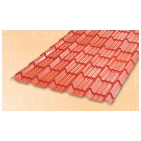 TATA DURASHINE TILE: - CASTLE RED - THICKNESS 0.45MM x WIDTH 1090MM (3.6FEET), 14feet 4270mm