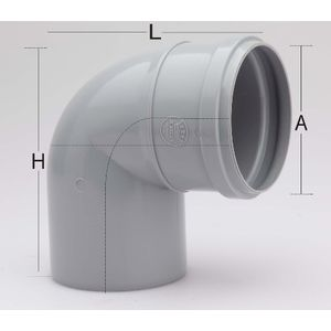 PRINCE SWR ULTRAFIT FITTING - PLAIN BEND, 3  90mm