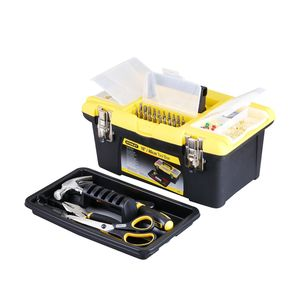 STANLEY TOOLS STORAGE - PLASTIC TOOL BOX, 400x254x183MM