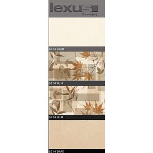 LEXUS 300 X 600 DIGITAL GLOSSY WALL TILES - 6214, light