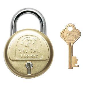 GODREJ PADLOCKS NAV-TAL: 6 Levers - Long Shackle, 3 keys