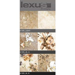 LEXUS 300 X 600 DIGITAL GLOSSY WALL TILES - 6189, highlighter b