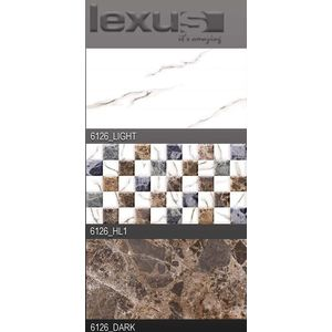 LEXUS 300 X 600 DIGITAL GLOSSY WALL TILES - 6126, highlighter 1