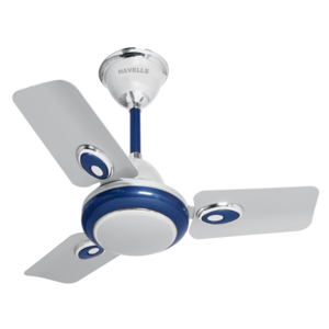 HAVELLS: DECORATIVE FANS FUSION, 1200 mm sweep, silver blue