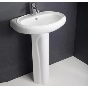 HINDWARE PEDESTAL BASIN - 10032 CONSTELLATION,  white