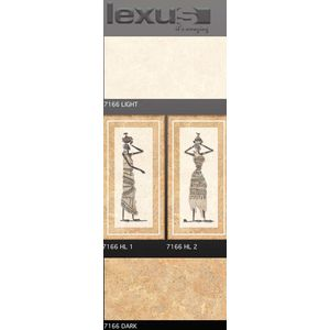 LEXUS 300 X 600 DIGITAL MATT WALL TILES - 7166, light