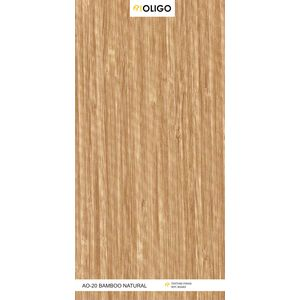ALSTONE OLIGO WOOD POLYMER COMPOSITE BOARD (8 x 4 FEET) - BAMBOO NATURAL, both side, matt, 6 mm
