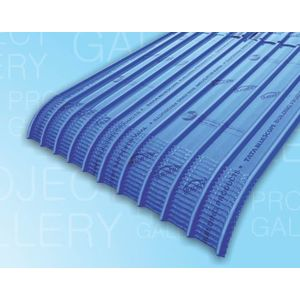 TATA DURASHINE LONG LINE CRIMP STEEL SHEETS: - NUVO BLUE - THICKNESS 0.45MM x WIDTH 305MM (1.1FEET), 12 1feet 3962mm