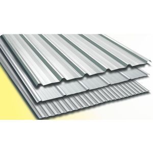 TATA DURASHINE SATIN SILVER ROOF STEEL SHEETS: - THICKNESS 0.45MM x WIDTH 1072MM (3.5FEET), 14feet 4270mm
