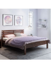 Alquiler Vilnius Sheesham Wood Queen Size Bed