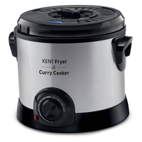 Kent 16001 Curry Cooker 1.5 L Electric Deep Fryer