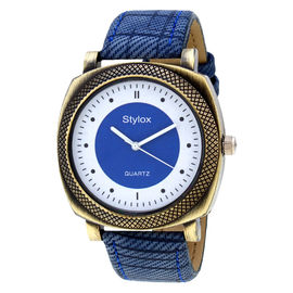Stylox Blue Square Dial Men's Watch