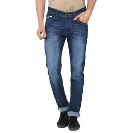 Stylox Stylish White Shaded Jeans For Men, 28
