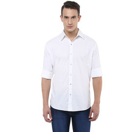 Stylox Stylish White Slim Fit Casual Shirt, m