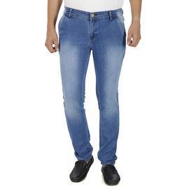 Stylox Mens Medium Blue Shaded Slim Fit Jeans, 32
